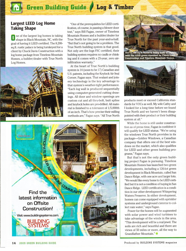 Largest Leed Home in magazine