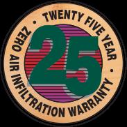 25 year warranty logo