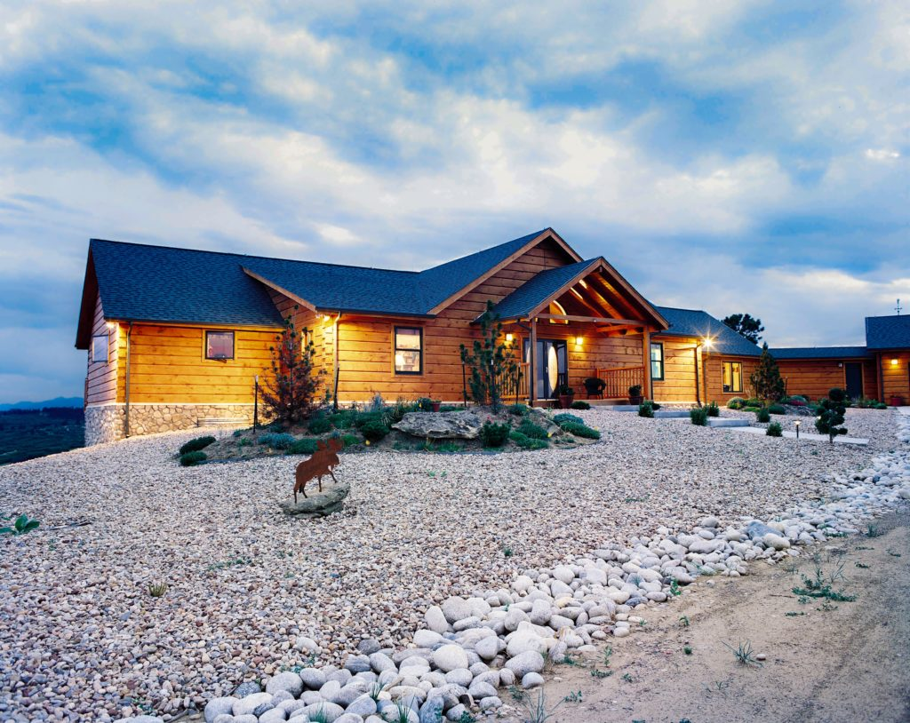 Castlerock Front True North Log Homes