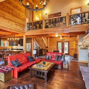 Citadel X True North Log Homes Great Room