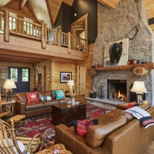 Citadel PPK Living Room True North Log Homes Log Cabin Kit Log Home Kit