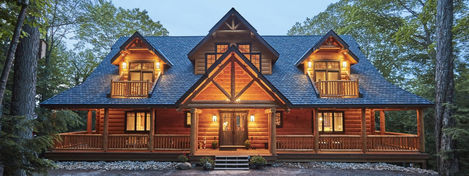 Citadel PPK Thumbnail True North Log Homes Log Cabin Kit Log Home Kit