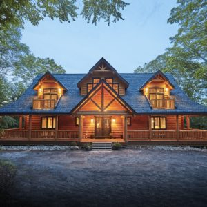 Citadel PPK Front True North Log Homes Log Cabin Kit Log Home Kit