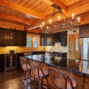 Citadel X True North Log Homes Kitchen