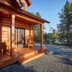 Citadel X True North Log Homes Master Porch
