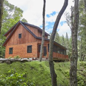 Rear Elevation - Aspen VIII - True North Log Homes