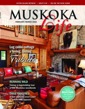 Muskoka Life Magazine cover March 2018