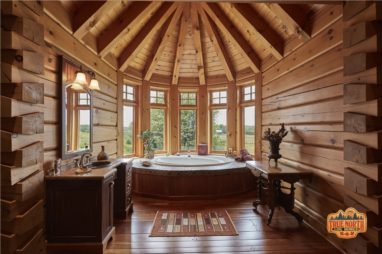 True North Log Homes uv primer coat technology