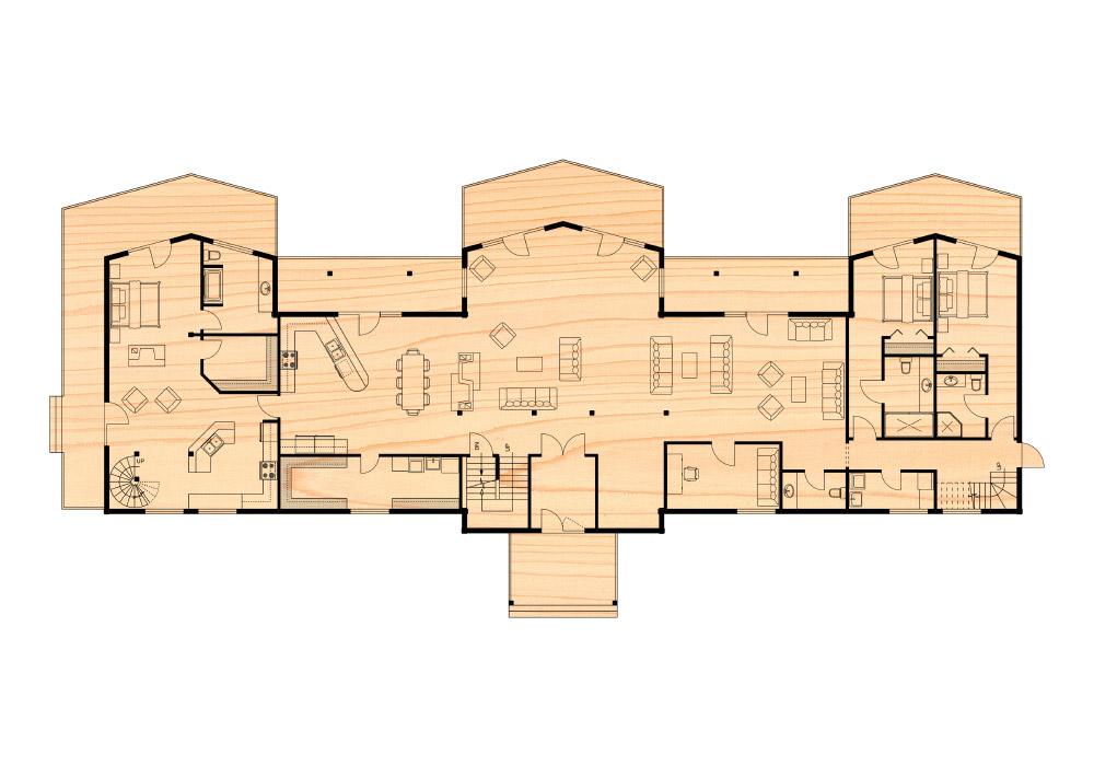 Alaskan fishing lounge true north log homes for True homes floor plans