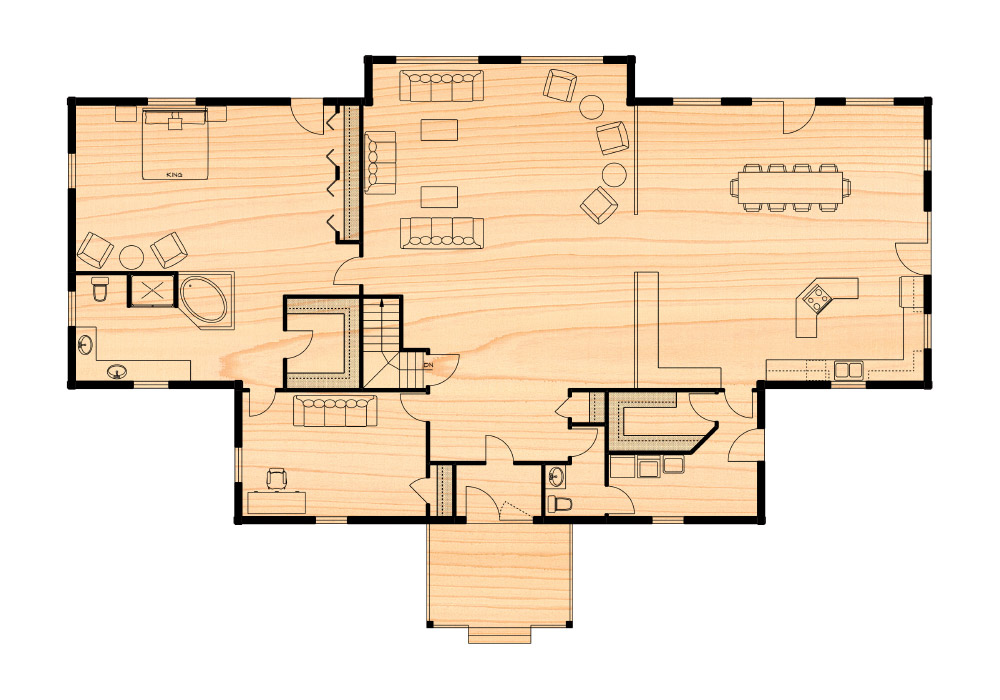The castlerock residence true north log homes for True homes floor plans