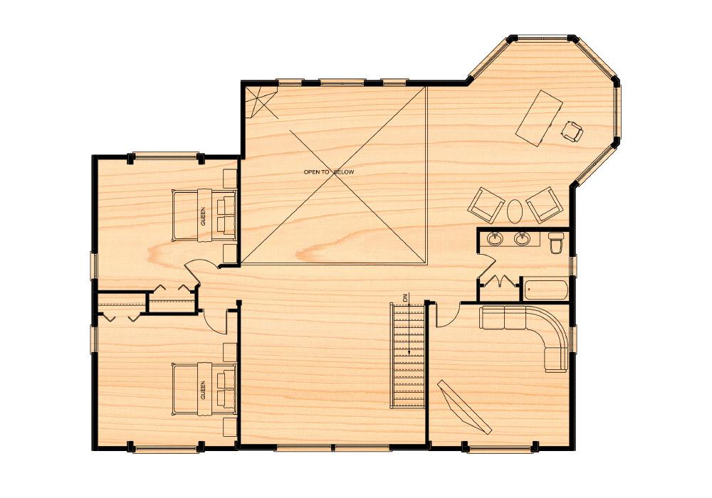 Citadel viii true north log homes for True homes floor plans