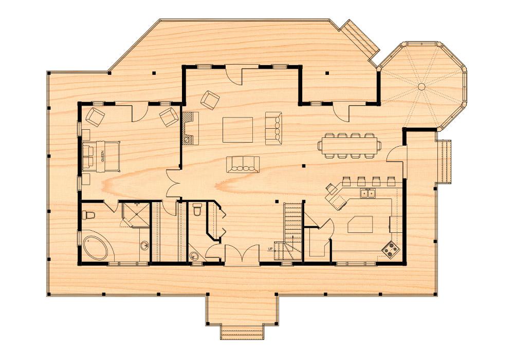 Citadel ix true north log homes for True homes floor plans