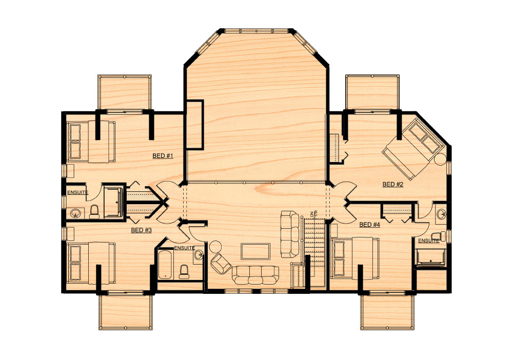 Citadel ppk true north log homes for True homes floor plans