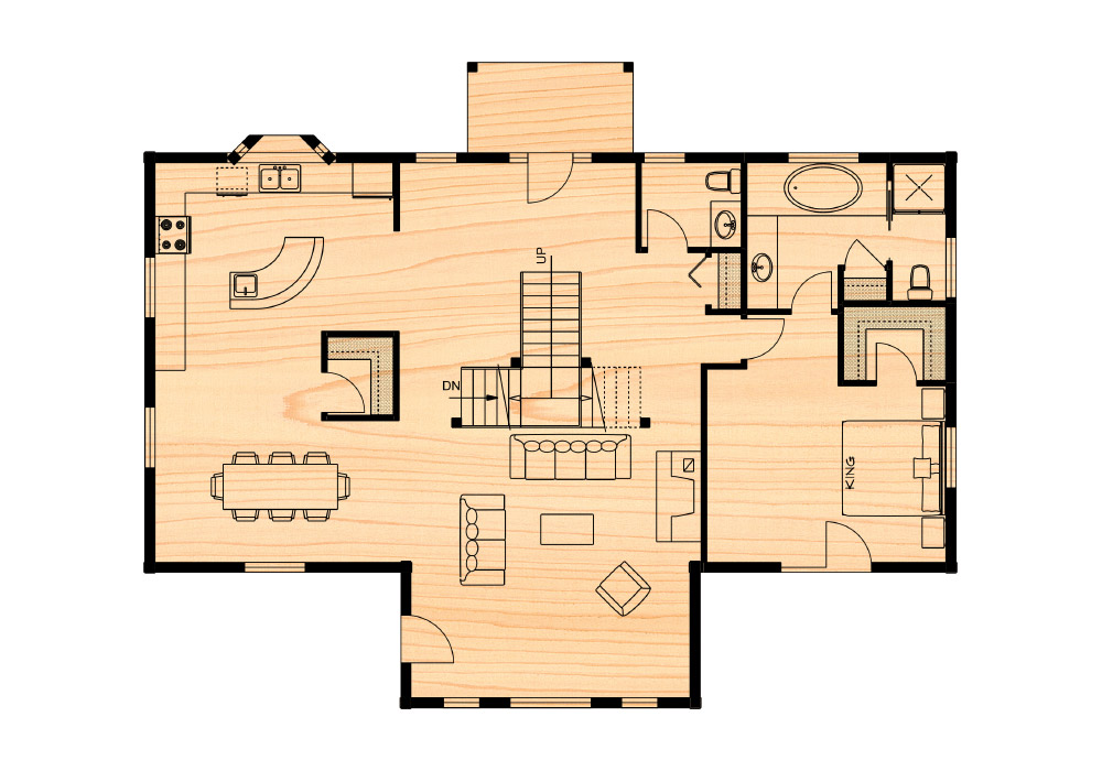 Huntingford iii true north log homes for True homes floor plans