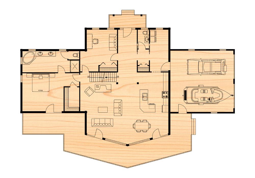 Huntingford iv true north log homes for True homes floor plans