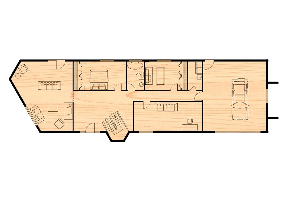 The keystone residence true north log homes for True homes floor plans