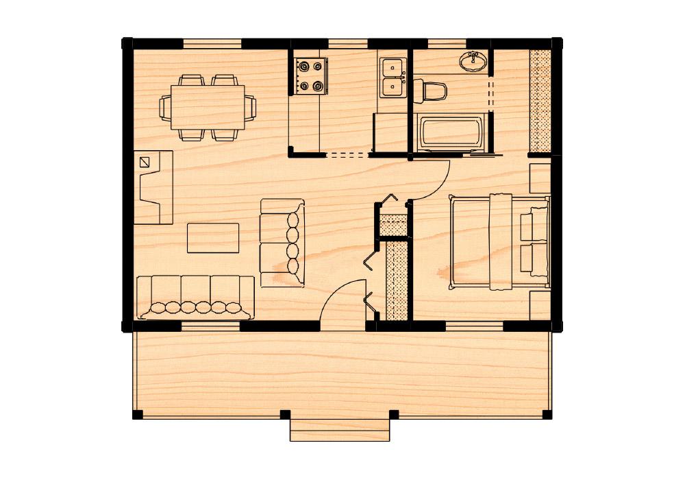 Killarney i true north log homes for True homes floor plans