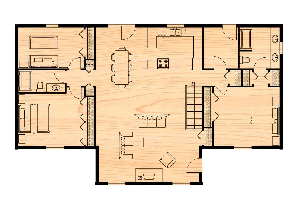 Klondike i true north log homes for True homes floor plans