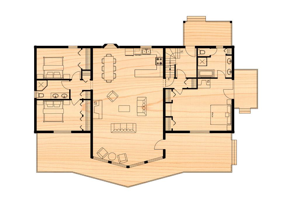 Klondike iv true north log homes for True homes floor plans