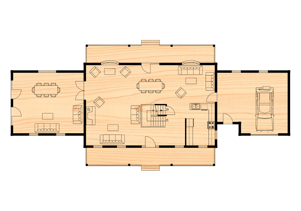 Louisburg iii true north log homes for True homes floor plans
