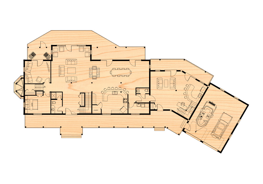 The mcleish residence true north log homes for True homes floor plans