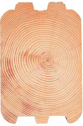 round groove log