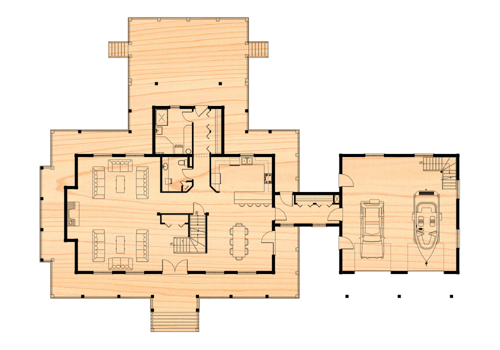 The sprucedale residence true north log homes for True homes floor plans