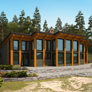 The Lakeview Rendering True North Log Homes