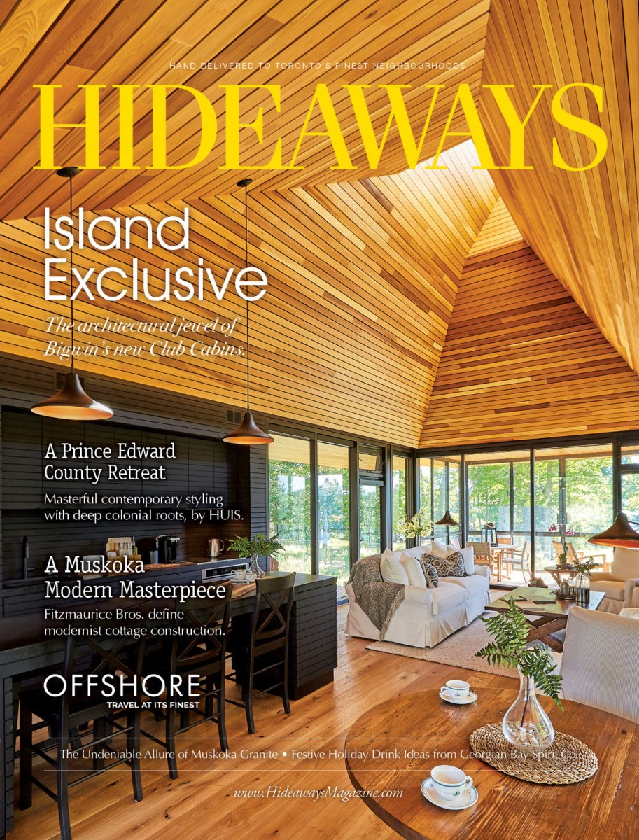 HIDEAWAYS Toronto magazine cover 2019