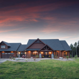 Front - Ramseyer Residence - True North Log Homes - Custom Home