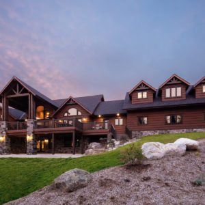 Back - Ramseyer Residence - True North Log Homes - Custom Home