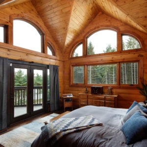 Master Bedroom - Ramseyer Residence - True North Log Homes