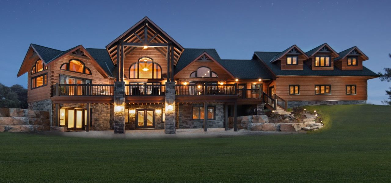 Back - the Ramseyer Residence - True North Log Homes - Custom Home