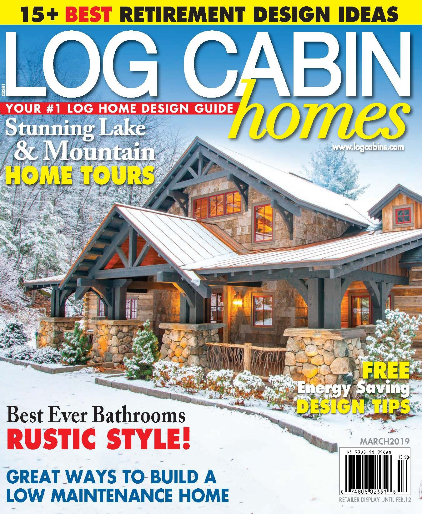 Log Cabin Homes - March 2019 Cover
