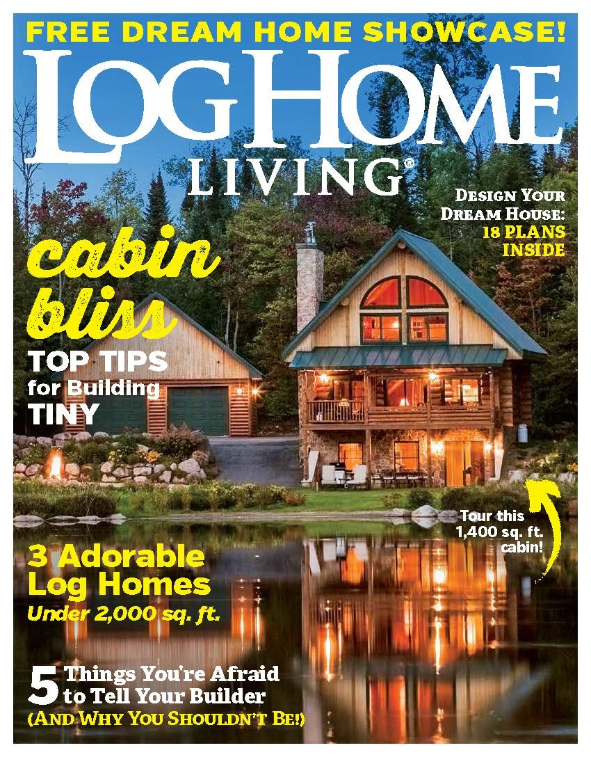 February 2019 Log Home Living cover