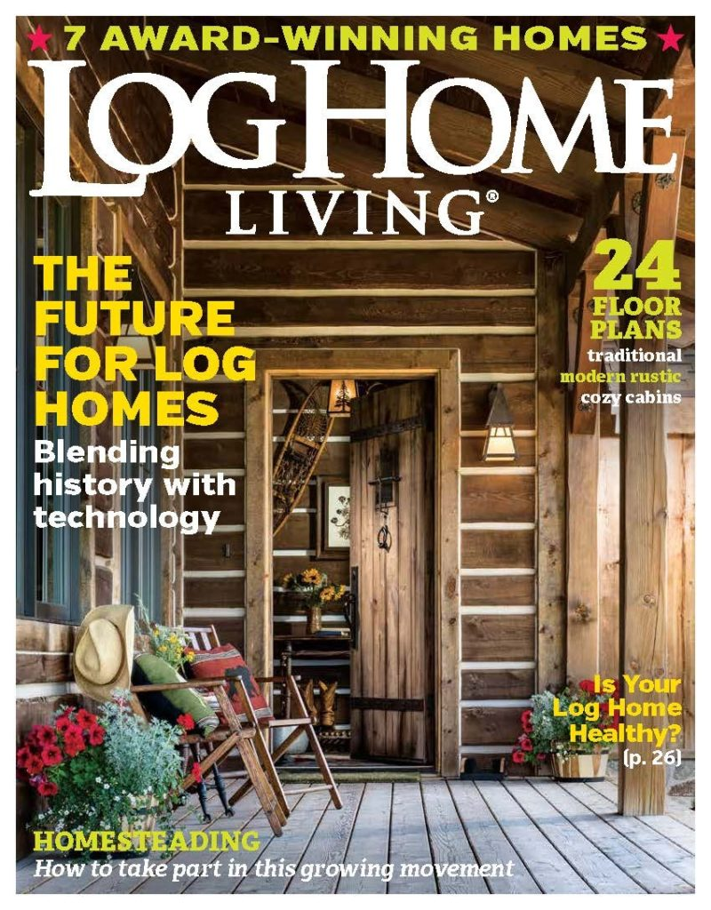 March 2019 Log Home Living magazine cover