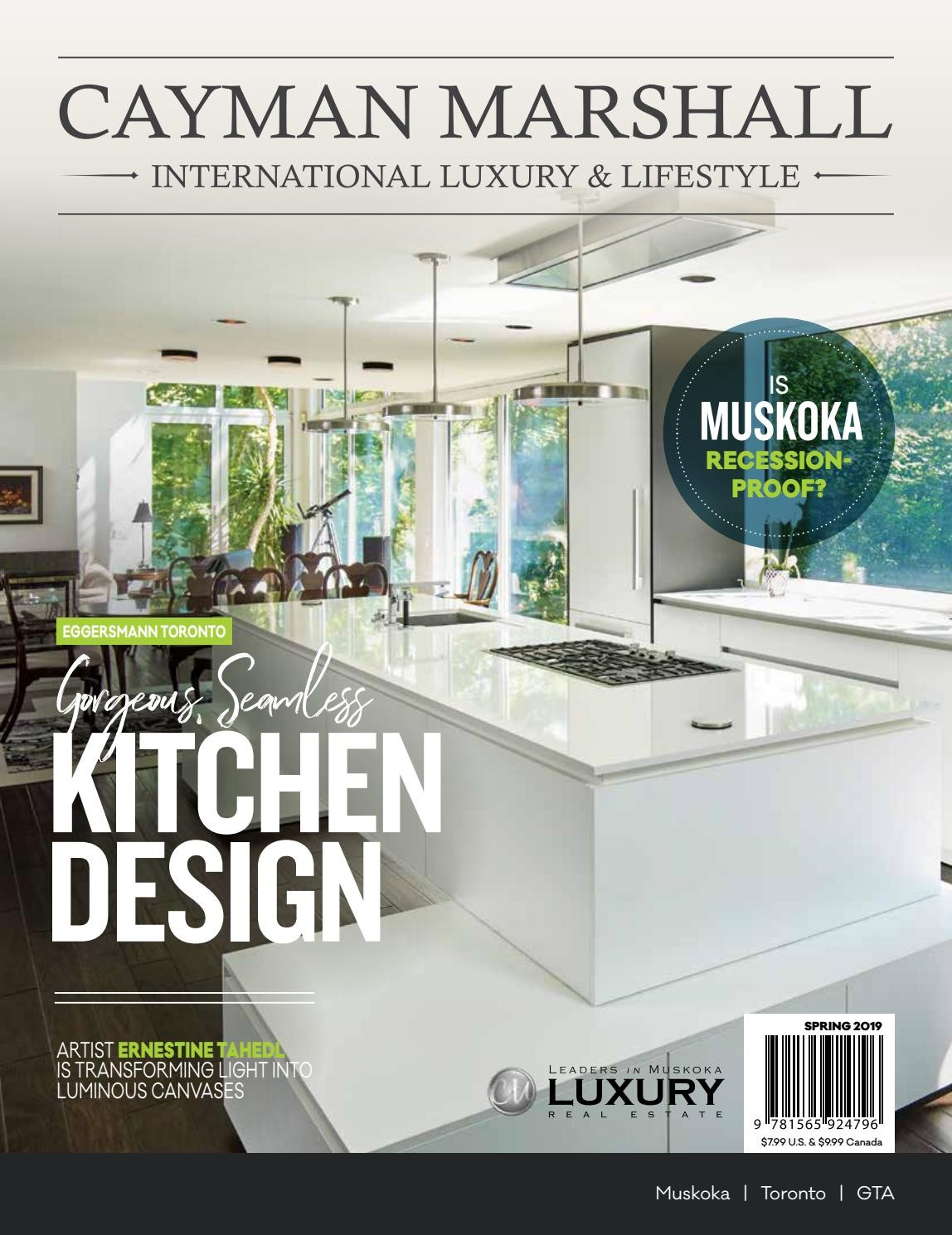 Front Cover of The Thoroughly Modern Log Home - Cayman Marshall Magazine - Spring 2019